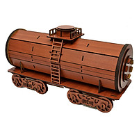 Hộp rượu vang hình tàu hỏa lắp ráp trang trí