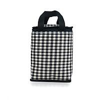 Túi giữ nhiệt kiểu đứng sọc trắng đen