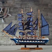 Mô hình thuyền buồm FJ45A5 xanh size 43cm