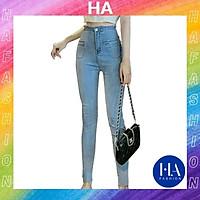 Quần Jean Nữ Lưng Cao H&A Fashion Chất Jean Co Giãn Túi Kiểu Ngang KVQJN0013