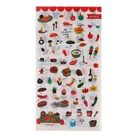Bộ 6 Tấm Dán Trang Trí - Food - Icon