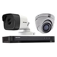 Trọn bộ 2 Camera giám sát HIKVISION TVI 5 Megapixel DS-2CE56H1T-ITM FULL 4K - Hàng chính hãng