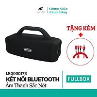 Loa bluetooth không dây Lanith Booms Bass L17 có quai xách – Tặng dây cáp sạc 3 đầu - Hỗ trợ thẻ nhớ, Bluetooth,audio 3.5mm - Hàng nhập khẩu – LB000017.CAP0001