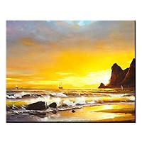 Tranh Canvas Treo Tường Trang Trí Những Con Thuyền Ra Khơi Suemall CV140850