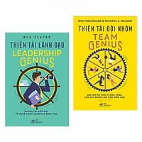 Combo 2 cuốn Thiên Tài Lãnh Đạo + Thiên Tài Đội Nhóm Team Genius ( Tặng kèm bookmark PD)