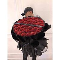 Bó hoa nhũ 50bông sang chảnh cực xịn, cốt tự đứng chắc chắn, phối giấy Gấm Hàn cao cấp.