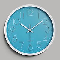 Đồng hồ treo tường tròn Quartz đính đá viền trắng 30cm