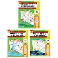 Combo 3 Cuốn Sách: Phát Triển Kỹ Năng Tư Duy Phản Biện - Học Ở Trường Rèn Luyện Tư Duy Ở Nhà (Mẫu Giáo + Lớp 1 + Lớp 2)