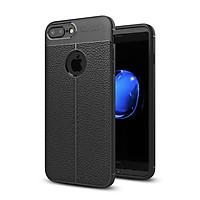 Ốp lưng silicon dẻo giả da Auto Focus cao cấp dành cho iPhone 7 Plus - Hàng chính hãng