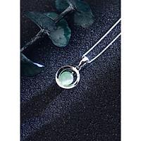Dây Chuyền Bạc Nữ Hình Đá Ngọc Thời Trang - Vòng Cổ Bạc Cho Nữ M1558 Bảo Ngọc Jewelry