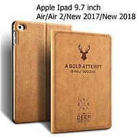 Bao Da Cover Dành Cho Apple Ipad Air / Air 2 / Pro 9.7 / New 2017 / New 2018 Vân Da Tuần Lộc