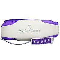 Máy massage hỗ trợ giảm mỡ bụng Slender Vshaper - Tím trắng