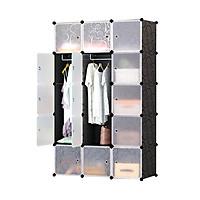 Tủ nhựa lắp ghép 15 ô để quần áo (110cmx180cmx47cm)