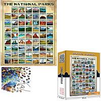 Bộ Tranh Ghép Xếp Hình 1000 Pcs Jigsaw Puzzle (Tranh ghép 70*50cm) Tranh Núi Nổi Tiếng Bản Thú Vị Cao Cấp