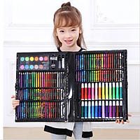 Bộ bút chì màu màu nước dụng cụ vẽ cắt thủ công KP000575-150 quà tặng cho bé