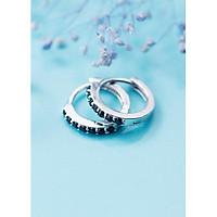 Bông Tai Nữ   Bông Tai Nữ Bạc Đơn Giản B2425 - Bảo Ngọc Jewelry
