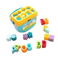Đồ chơi giáo dục sớm thả hình khối có quai xách cho bé Toyshouse 0702-TH-HE0218. - BPA free