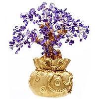Cây Tài Lộc - Cây Đá phong thủy Thạch Anh đế Túi Vàng Vietgemstones