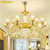 Đèn chùm ROSIT phong cách Châu Âu trang trí nội thất hiện đại, sang trọng loại 15 tay - kèm bóng LED chuyên dụng.
