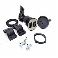 Bộ sạc điện thoại gắn trên Mô tô, xe máy, xe đạp điện 2.1A 206668 F