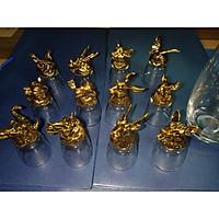 Bộ Ly 12 con giáp vàng đồng hàng nhập khẩu nhật bản