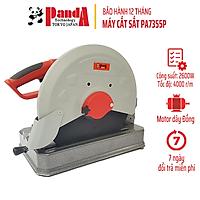 Máy cắt sắt PANDA PA7355P, Công suất 2600W, Bàn cắt dày, Cắt góc 45 độ, Tặng kèm lưỡi cắt
