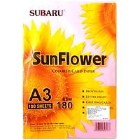 Bìa Thái Sunflower A3 Lớn 180 gsm - Màu Hồng