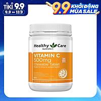 Viên Nhai Healthy Care Vitamin C 500mg Bổ sung vitamin và khoáng chất, Tăng Đề Kháng, Hỗ Trợ Sức Khỏe, Tim Mạch, Làm Sáng Da, Phòng Cảm Lạnh