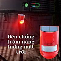 Đèn chống trộm năng lượng mặt trời có còi hú