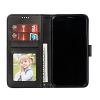 Bao da nắp gấp cho iPhone 11, 11 Pro, 11 Pro Max kiêm ví đựng thẻ, card, tiền đa năng và sang trọng