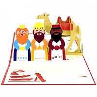 Thiệp 3D pop up giáng sinh Ba Vua