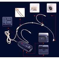 Micro không dây gài tai 2.4G hạt gạo cao cấp siêu nhỏ, mic live stream bán hàng online