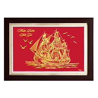 Tranh Quà tặng tân gia khai trương Thuận buồm xuôi gió (KT 42x62cm)