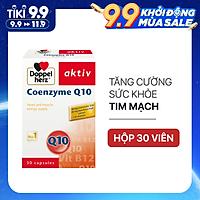 Viên uống bổ tim mạch, điều hòa huyết áp Doppelherz Aktiv Coenzyme Q10 (Hộp 30 viên)