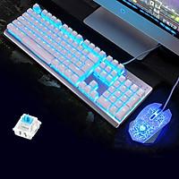 LANGTU M100 | Combo bàn phím cơ + chuột chơi game, Led RGB có 2 loại switch lựa chọn - Hàng chính hãng