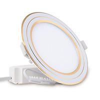 Đèn LED Panel Siêu Mỏng Đổi Màu  Model: D PT05L DM 110 9W Viền Mạ Vàng