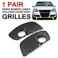 1 Pair Front Bumper Lower Fog Light Cover Vent Grilles For VW POLO GTI 2006-2009