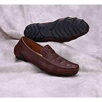 giày mọi lười nam da bò nguyên tấm đế cao su bạch tuộc phong cách, chống hôi chân, êm chân SHOES 2H size 38 – 43, 2H-71