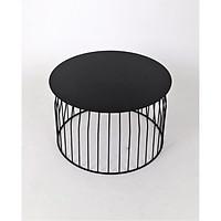 Bàn tròn GT-395A, chất liệu sắt, phủ sơn màu đen lì, KT 60*60*36.5cm