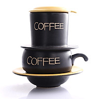 Phin Cafe Gốm Màu Vàng Thấp MNV-CF001/2