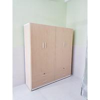 Tủ áo 4 cánh 4 ngăn kéo (màu tự nhiên)