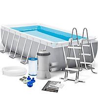 Bể bơi gia đình INTEX khung kim loại 4m tiết kiệm diện tích 26788