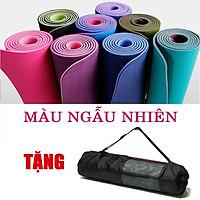 Thảm Tập Yoga 2 Lớp chất liệu TPE dày 6mm Bám và chống trơn cực tốt