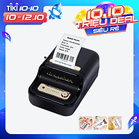 Label Printer Portable Wireless BT Thermal Label Maker Sticker Printer with RFID Recognition Great for Supermarket