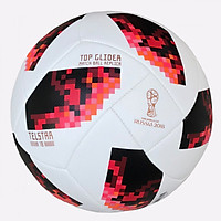 Quả bóng đá WC 2018 số 4 (có 2 màu Đỏ và Đen- Giao màu ngẫu nhiên)- kèm kim bơm bóng
