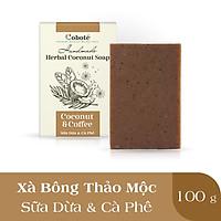 Xà Phòng Thảo Mộc Coboté - Cà Phê & Sữa Dừa – Dưỡng Ẩm Mượt Mỗi Ngày - 100% Tự Nhiên