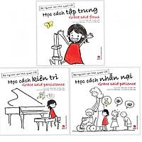 Combo Bé Ngoan Rèn Thói Quen Tốt: Học Cách Tập Trung + Học Cách Kiên Trì + Học Cách Nhẫn Nại (Tặng kèm bookmark Happy Life)