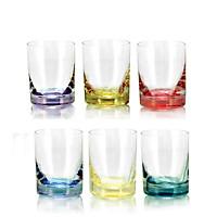 Bộ 6 ly rượu mạnh 6 màu tiệp khắc 060 ml