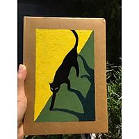 Sổ tay handmade black cat