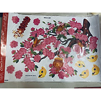 Decal trang trí tết hoa mai hoa đào in nổi 4D